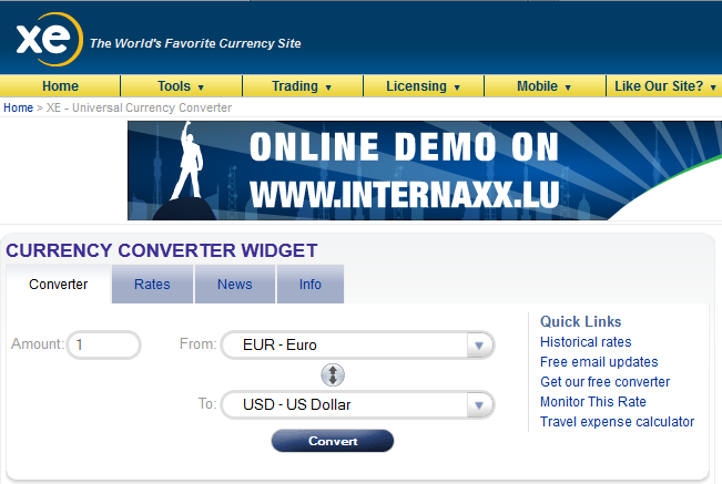 Forex and currency converter