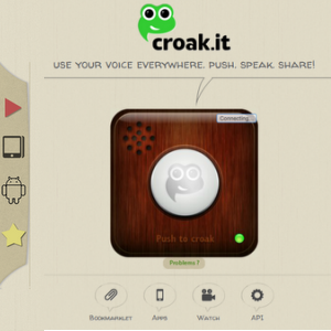 Share Your Thoughts And Voices Everywhere With Croak Web Page