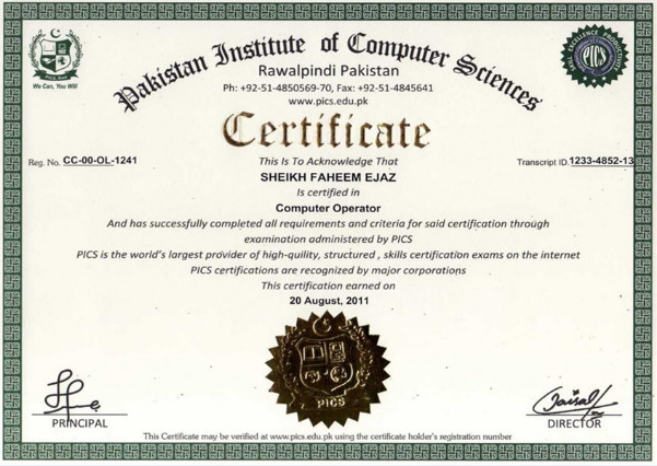 IRC Certificate http://www.irc.ltd.uk/online_certification.php