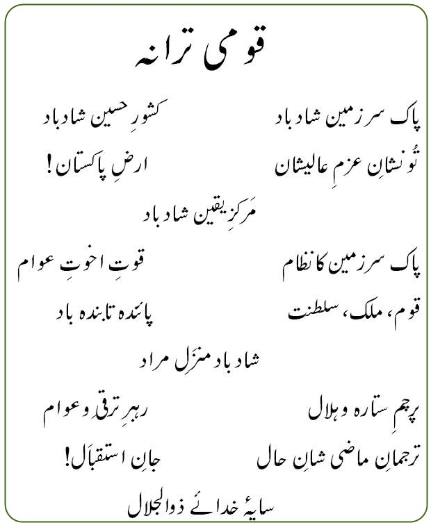 essay on national anthem of pakistan National symbols and things of pakistan, national animal of pakistan, national anthem, national bird of pakistan, dress, drink, flower, fruit, library, masjid.