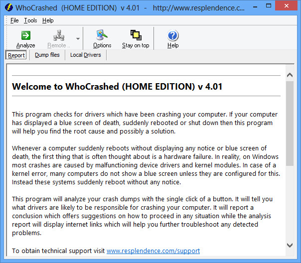 WhoCrashed is The Best and Free Solution For System Crashes