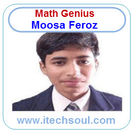 Math Genius Moosa Feroz