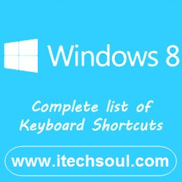 Keyboard Shortcuts List For Your Microsoft Windows 8