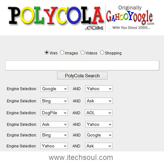PolyCola search