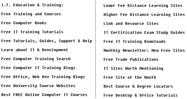 free IT training sites