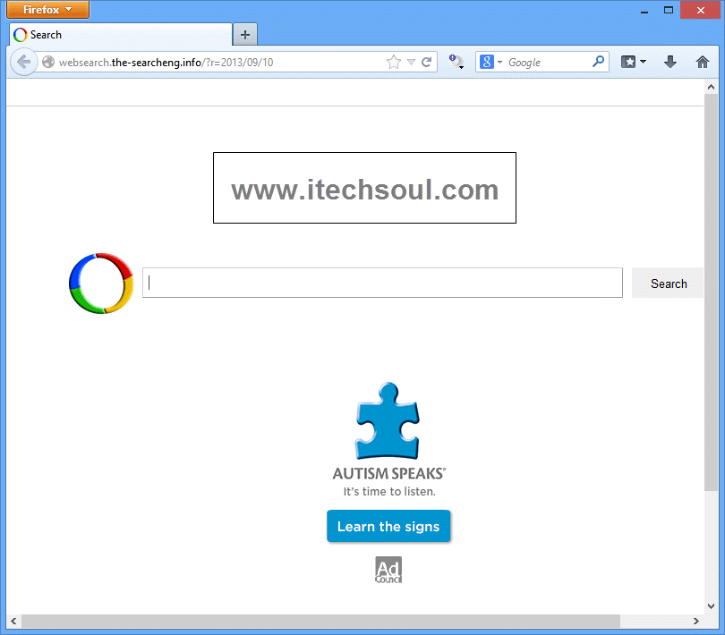 """How To Remove Browser hijacker """"websearch.the-searcheng.info"""" From IE, Mozilla Firefox And Google Chrome"""