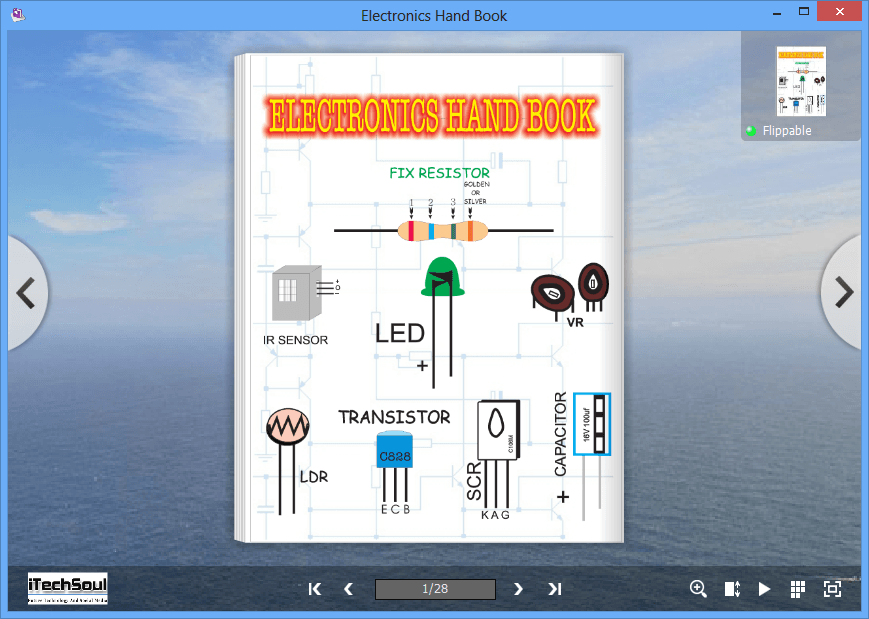 Colourful Flip Page Electronics Hand Book