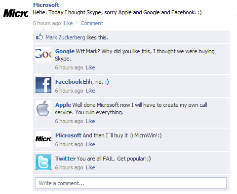 Fake Facebook Wall (2)