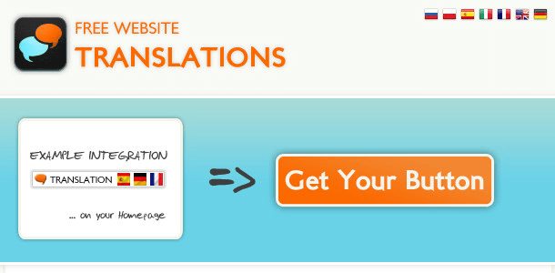 Free Website translation