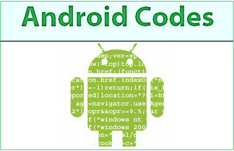 Android Device Secret Codes