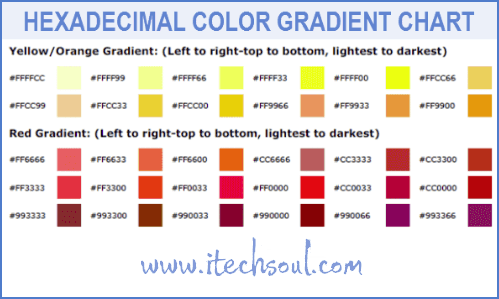 HEXADECIMAL COLOR GRADIENT CHART_2