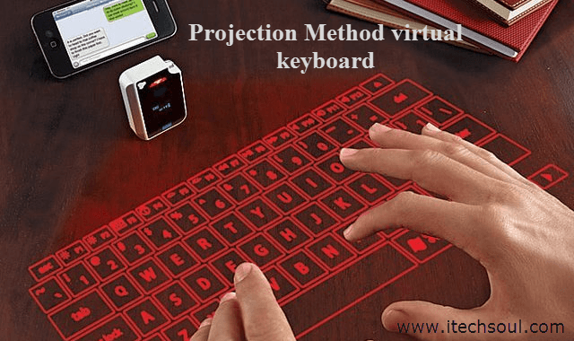 Projection Method virtual keyboard