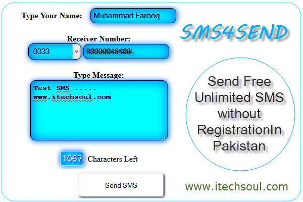 Free Sms Send In Pakistan Without Registration