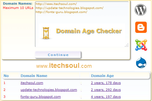 Website or Domain age checker