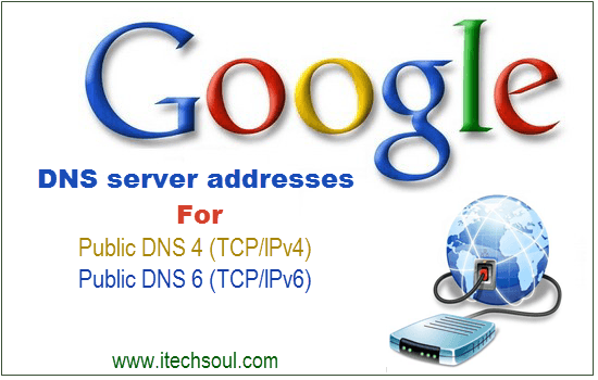 Google DNS server addresses