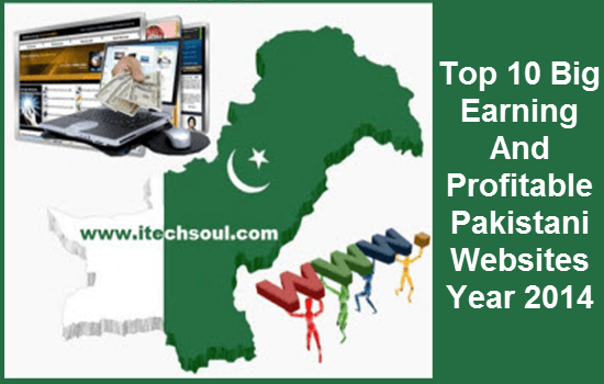 Top 10 Big Earning And Profitable Pakistani Websites Year 2014