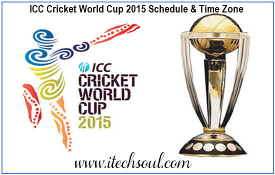 ICC Cricket World Cup 2015 Schedule & Time Zones
