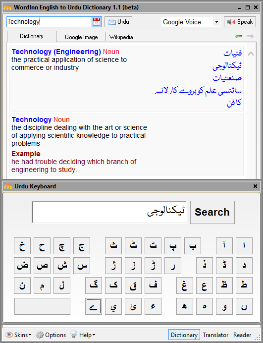 Free Online Wordinn English To Urdu Urdu To English Dictionary With Pc Version Itechsoul