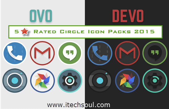Five Star Rated Circle Icon Packs 2015