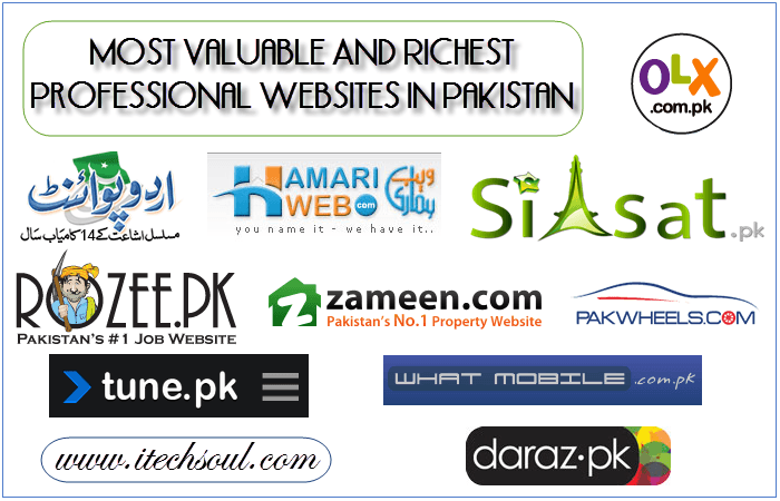 10 Most Valuable And Richest Professional websites In Pakistan