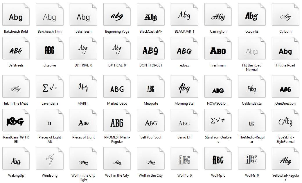 45 Precious and Awesome English Fonts Pack (2)