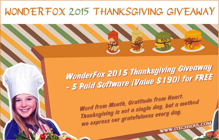WonderFox 2015 Thanksgiving Giveaway