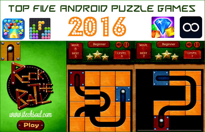 Top Five Android Puzzle Games 2016