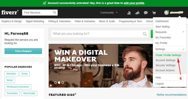 06_Sign Up Fiverr And Earn Big Money