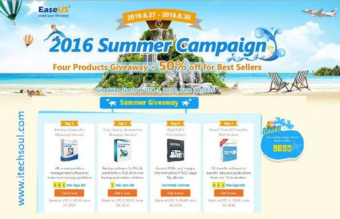 Exclusive Offer From Easeus Till 30 June 2016