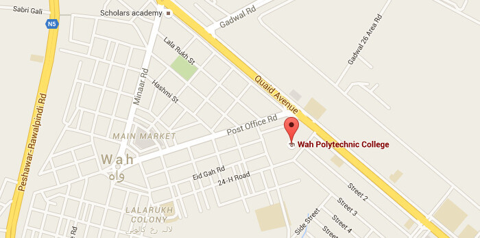 Map Wah Polytechnic College Wah Cantt