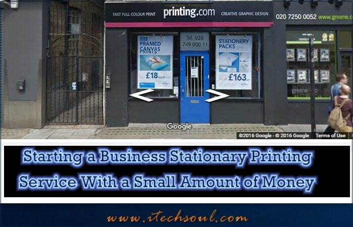 Starting a Business Stationary Printing Service With a Small Amount of Money