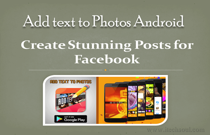 Add text to Photos Android Application