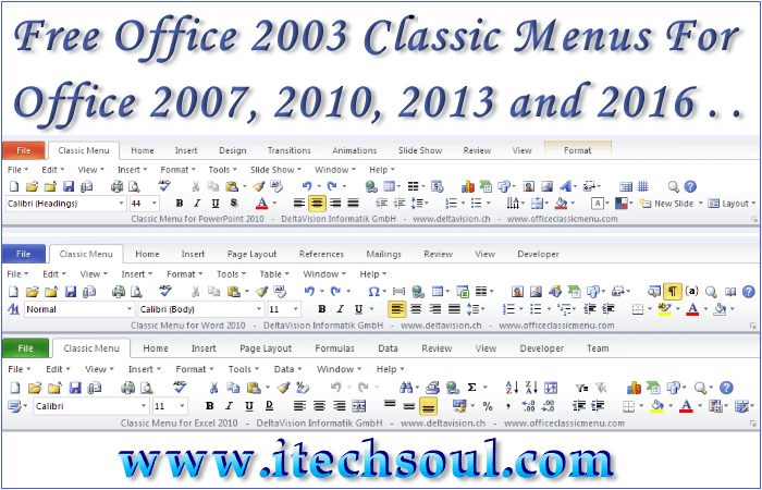 Free Office 2003 Classic Menus For all M.S offices