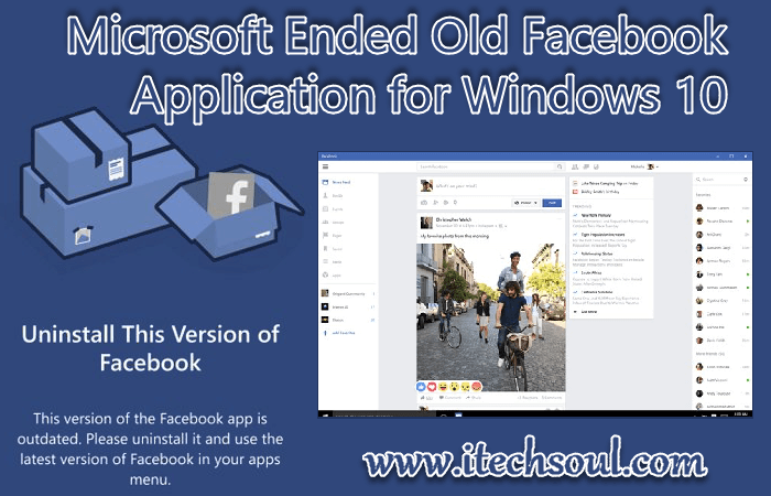 Microsoft Ended Old Facebook Application for Windows 10