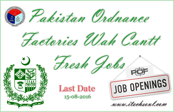 Pakistan Ordnance Factories Fresh Jobs