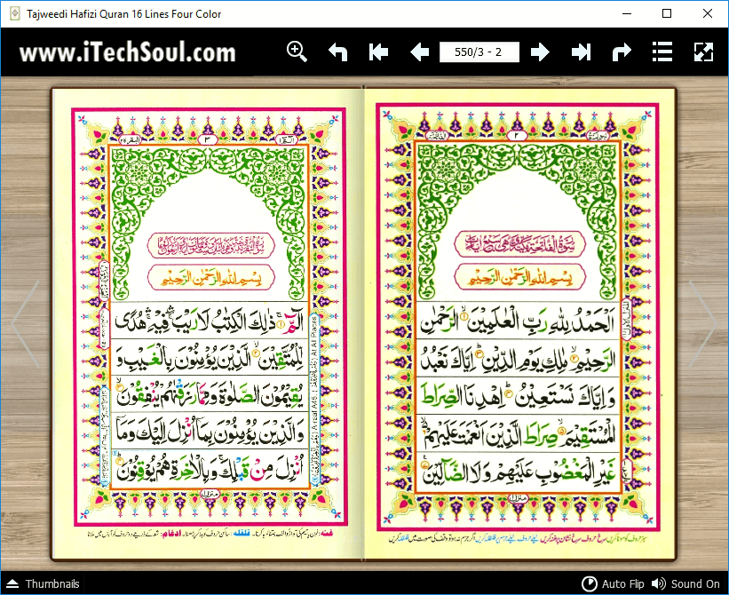 Tajweed Hafizi Quran in Four Colors Sixteen Lines (2)
