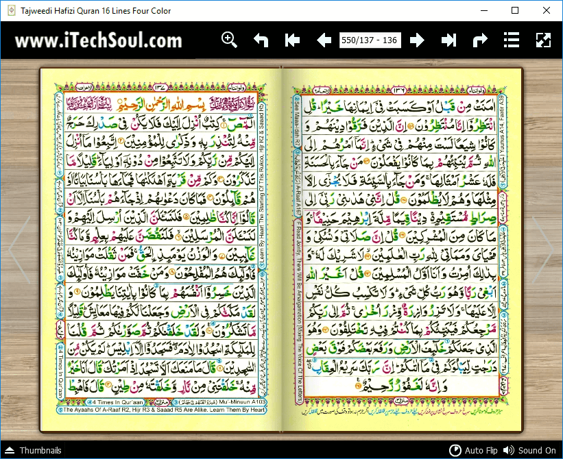 Tajweed Hafizi Quran in Four Colors Sixteen Lines (3)