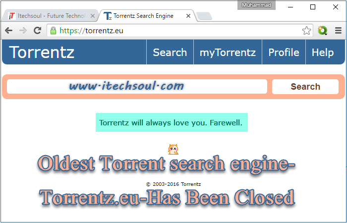 Torrentz.eu-Has Been Closed