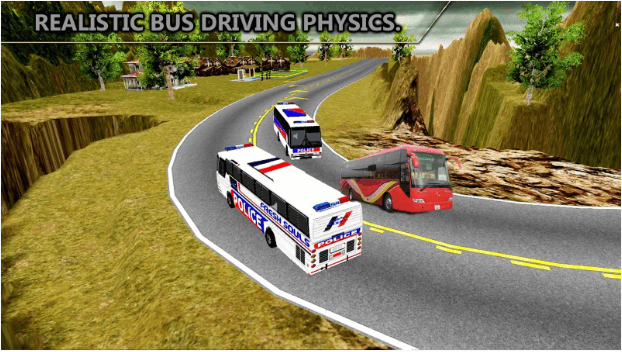 3-Offroad Police Bus Hill Driver