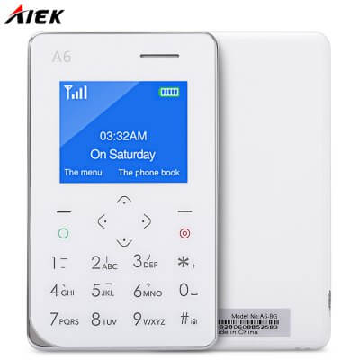 AIEK A6 Quad Band Card Phone