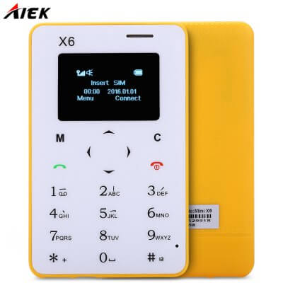 AIEK X6 Quad Band Card Phone