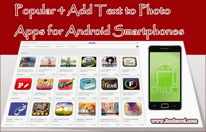 Add Text to Photo Apps for Android