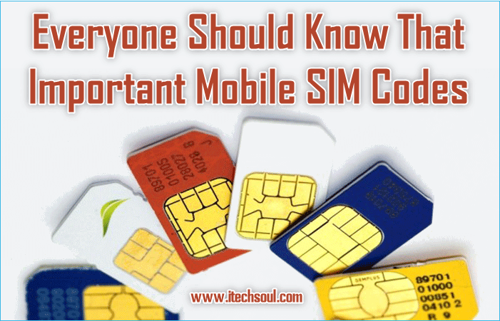 Important Mobile SIM Codes