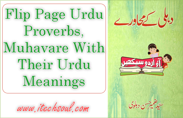 Urdu Muhavare With Their Urdu Meanings