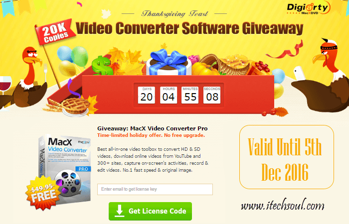 Giveaway: MacX Video Converter Pro 1,000 Free Copies Daily Till 5