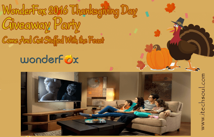 Thanksgiving Giveaway - WonderFox products