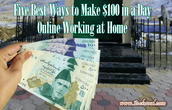 Make $100 in a Day Online Working at Home