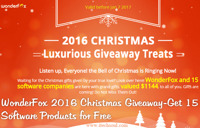 WonderFox 2016 Christmas Giveaway