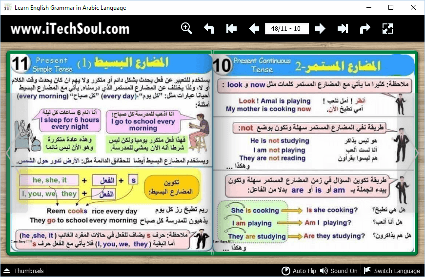 Learn English Grammar in Arabic Language (4)
