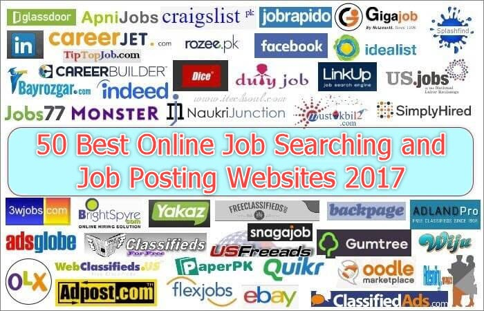 Online Job Searching, Posting Websites
